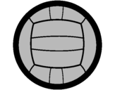 Coloring page Volleyball painted byflora