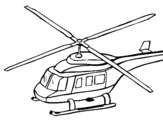 Coloring page Helicopter  painted bychloe