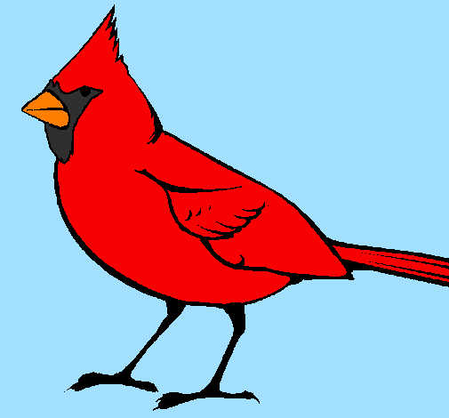 Colored Page Cardinal Painted By Candie
