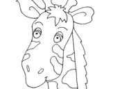 Coloring page Giraffe face painted bysirrobb