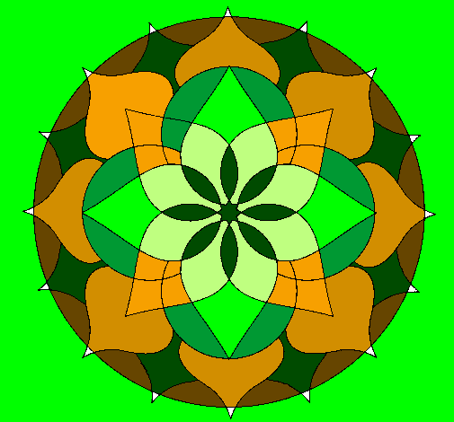 Coloring page Mandala 14 painted bymandala do amor
