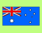 Coloring page Australia painted byTiffany
