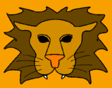 Coloring page Lion painted bycrystalena