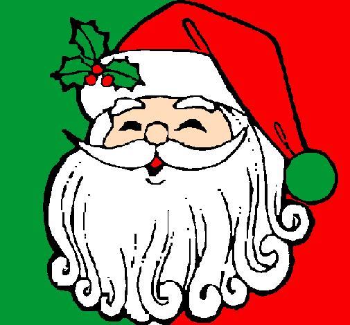 colored page santa claus face painted by zac and jonathan