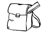 Coloring page School bag painted by11