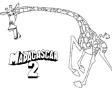 Coloring page Madagascar 2 Melman 2 painted bygiraffe
