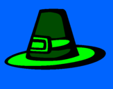 Coloring page Pilgrim hat painted byomar