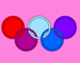 Coloring page Olympic rings painted bystasha
