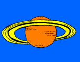 Coloring page Saturn painted bydaniel