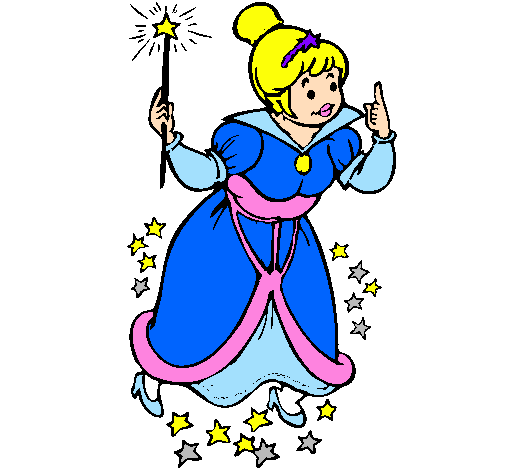 Colored page Fairy godmother painted by 5