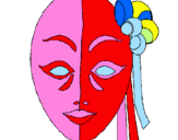 Coloring page Italian mask painted byrosa
