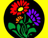Coloring page Floral print painted byRosalea
