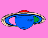 Coloring page Saturn painted bykevin
