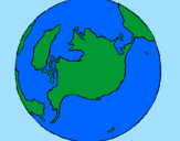 Coloring page Planet Earth painted bysara