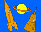 Coloring page Rocket painted bydaniel