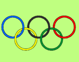 Coloring page Olympic rings painted bysara