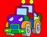 Coloring page Truck painted bynatana%u0113ls