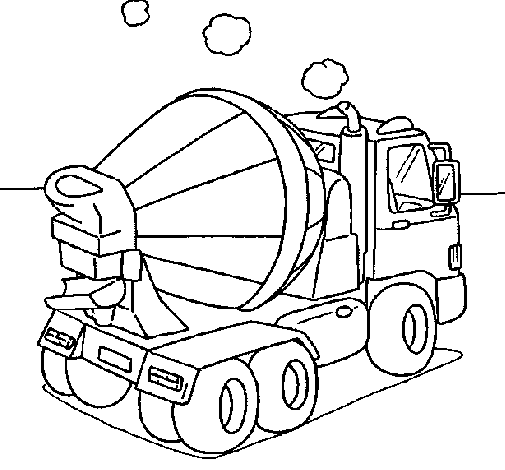 Coloring page Concrete mixer painted byguinipus   i  milagros