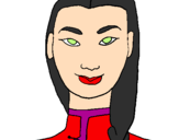 Coloring page Young Chinese woman painted byMARINA A