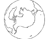Coloring page Planet Earth painted byDC