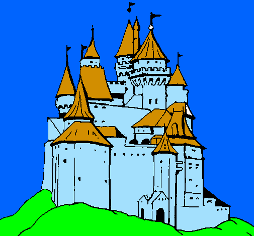 Coloring page Medieval castle painted byjose