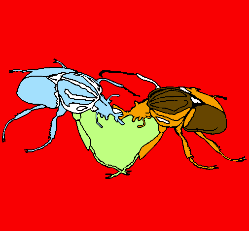Coloring page Beetles painted byblas