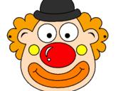 Coloring page Clown painted byjamie