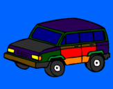 Coloring page 4x4 car painted byyani