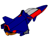 Coloring page Rocket ship painted byBo