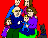 Coloring page Family  painted bycourtney