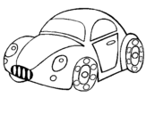 Coloring page Toy car painted byFOFO