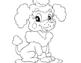 Coloring page Poodle painted bydarielys