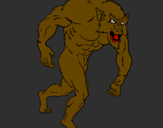 Coloring page Werewolf painted bypp