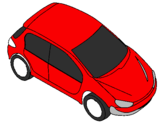 Coloring page Car seen from above painted byMATHEUS
