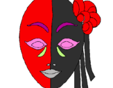 Coloring page Italian mask painted byjess