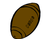 Coloring page American football ball painted bycameron
