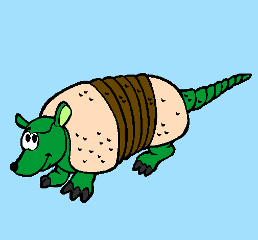 Coloring page Armadillo painted byKevin