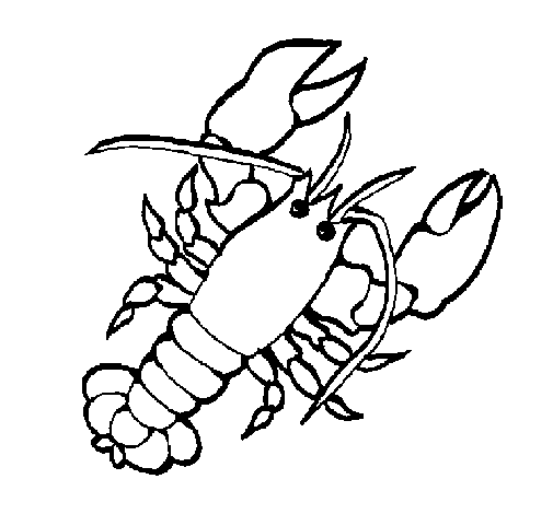 Coloring page Lobster painted byme