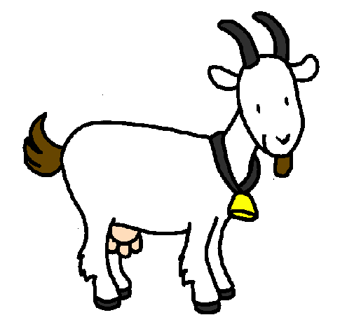 Coloring page Goat painted bygoat