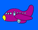 Coloring page Airplane painted byclaudia sofia