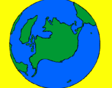 Coloring page Planet Earth painted byHelen