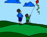 Coloring page Kite painted bykevin