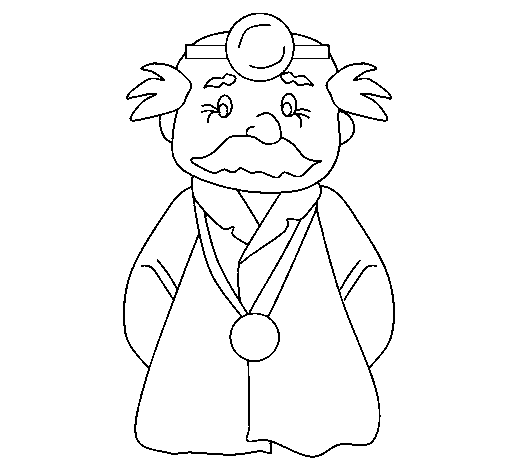 Coloring page Veteran doctor painted byezel