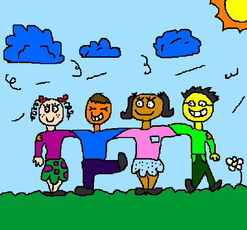 Coloring page Friends painted bymarina