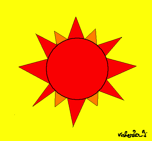 Coloring page Sun painted byceci
