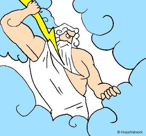 Coloring page Zeus painted bysamuel