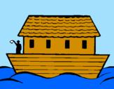 Coloring page Noah's ark painted byASIERAURRE