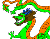 Coloring page Chinese dragon painted byjesus