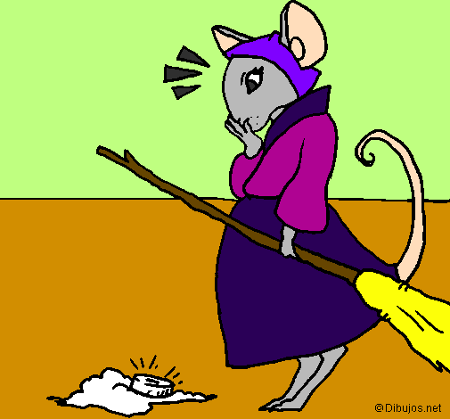 Coloring page The vain little mouse 2 painted byevan