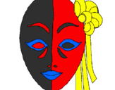 Coloring page Italian mask painted bykelly